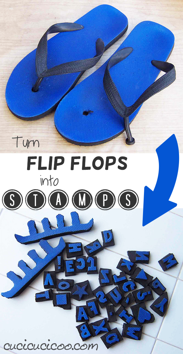 What can you do when your favorite flip flops break? Easy-- turn them into DIY stamps, toe separators and window guards!
