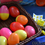 plastic and chocolate eggs