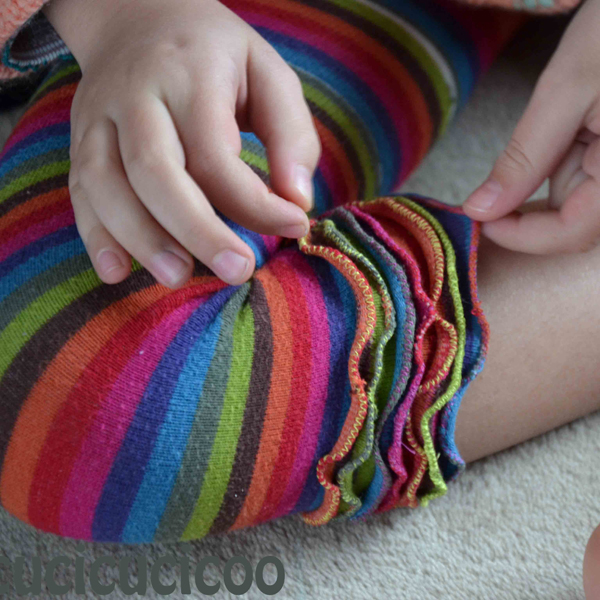 Make new leggings out of old tights