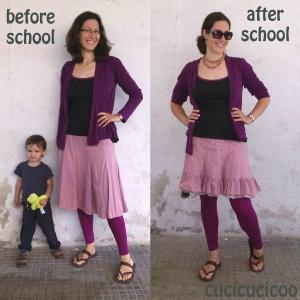 adding a bottom ruffle to a skirt