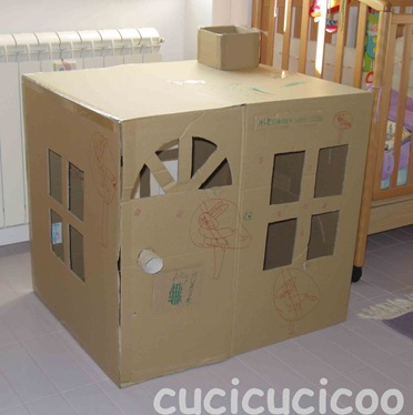 how to make a post box out of cardboard