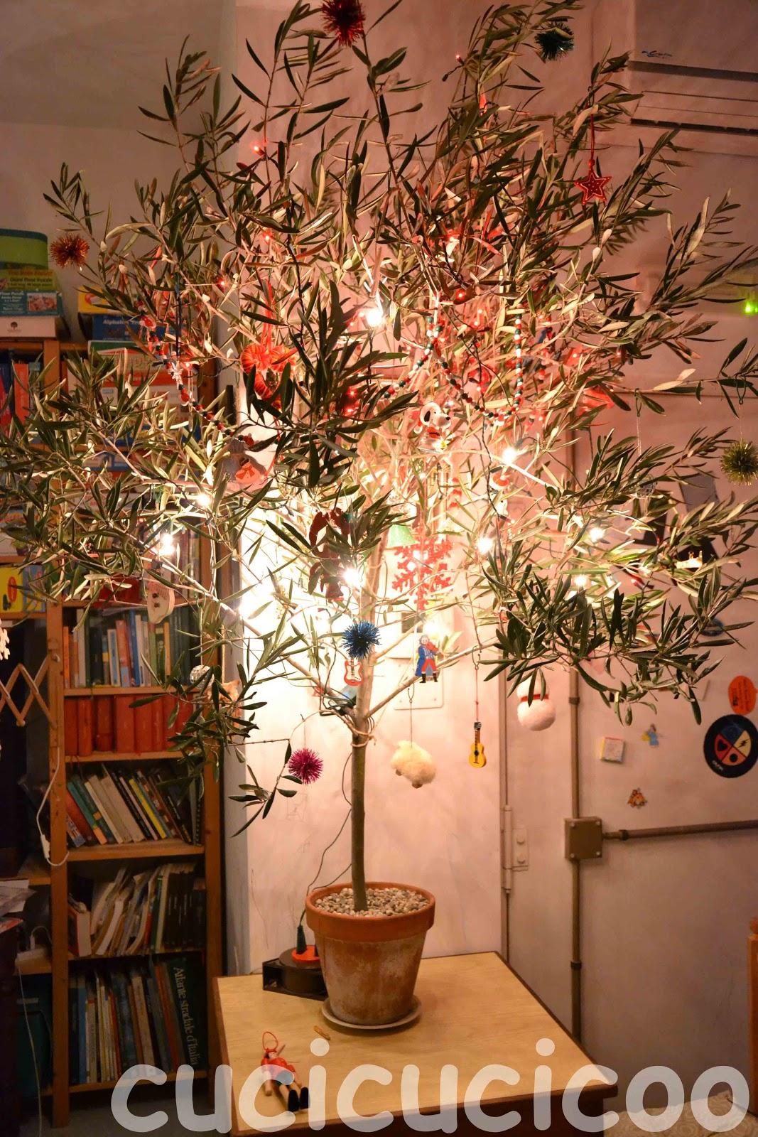 albero di natale da ramo di ulivo