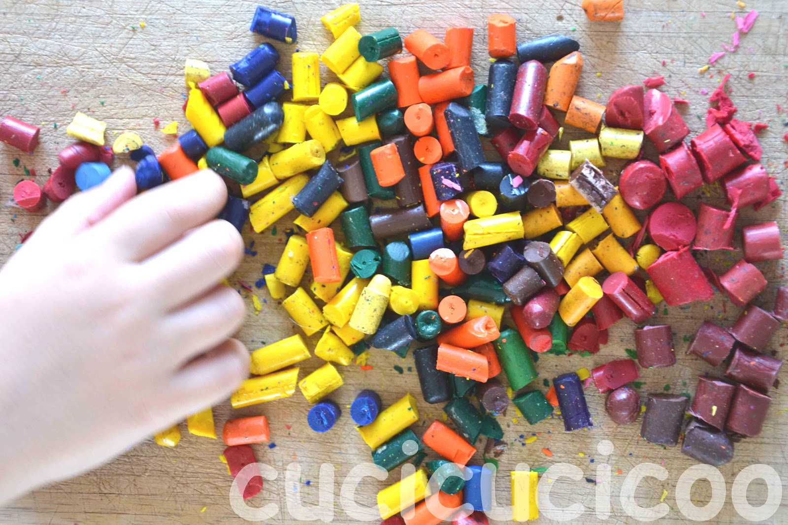 How To Make New Crayons Using Old Ones 5