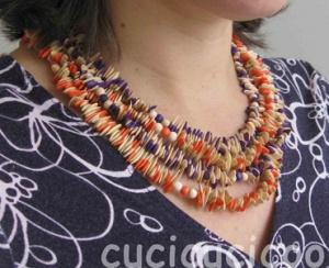 Make cool handmade jewelry with melon seeds and nail polish!