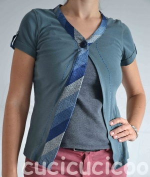 cardigan from tshirt and tie