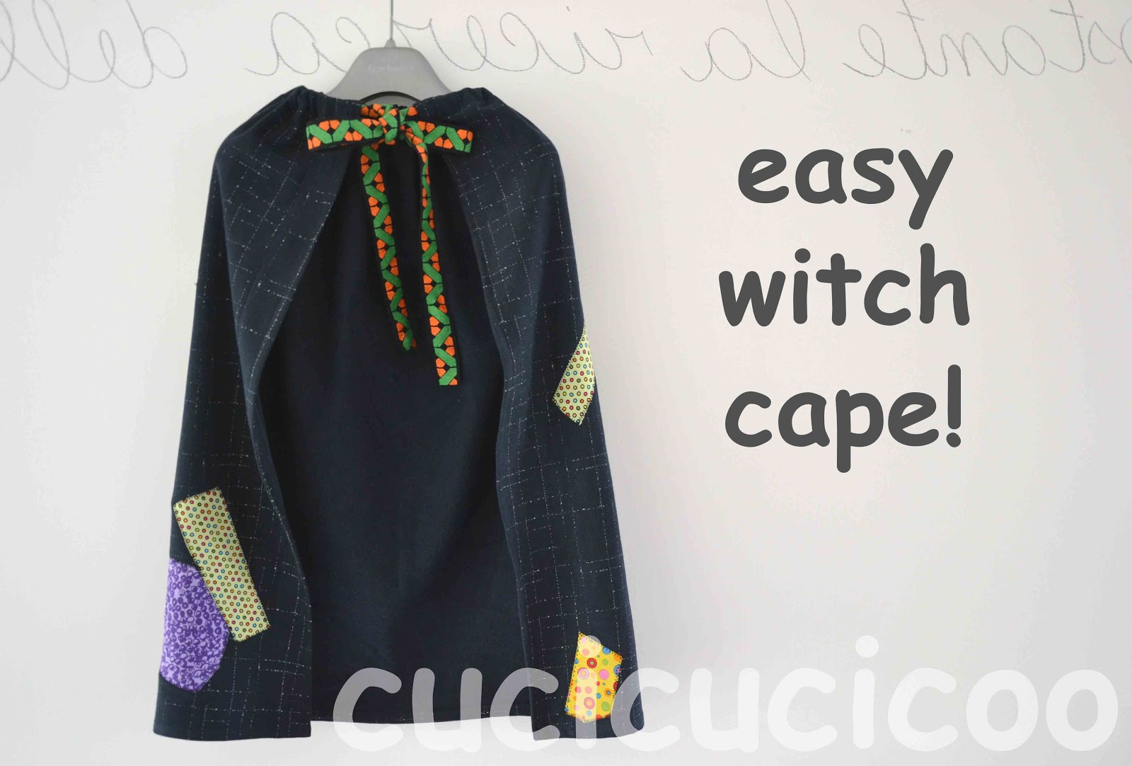 easy DIY witch cape