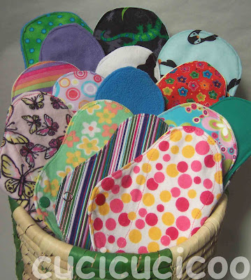 cloth menstrual pads by cucicucicoo