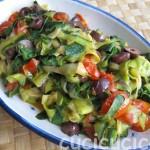 Zucchini ribbons: recipe