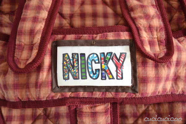 Add a vinyl nametag slot to a backpack or other bag