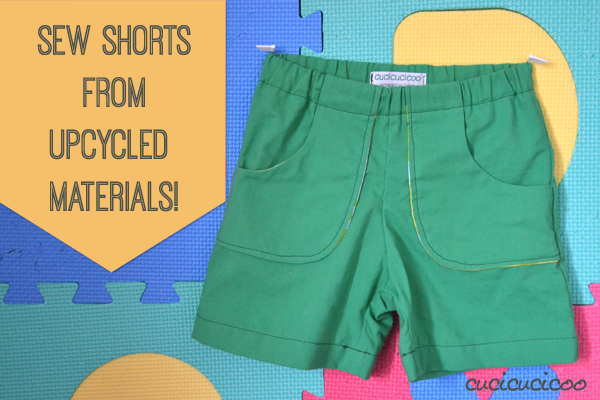 Sew shorts from upcycled materials