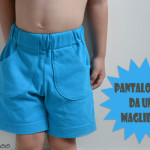 Pantaloncini da una maglietta recuperata