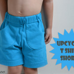 Upcycled T Shirt Shorts: how to reuse the original hem