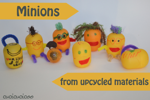 Minions from upcycled materials