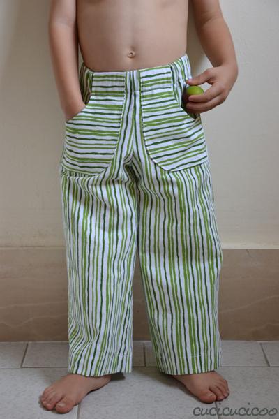 Come cucire pantaloni con un cartamodello per pantaloncini!