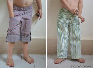 make pants from a shorts pattern