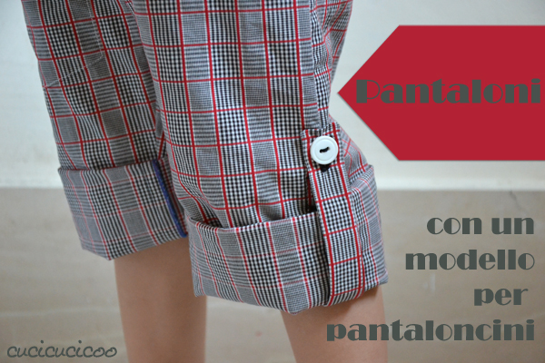 pantaloni con un cartamodello per pantaloncini