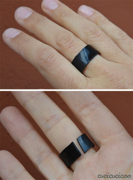 upcycled record jewelry