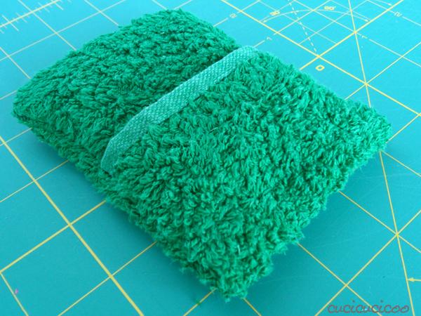 towel soap pockets