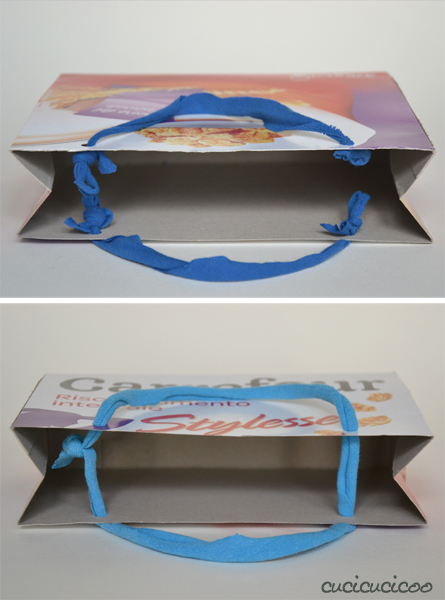 Tutorial: How to make gift bags from cereal boxes
