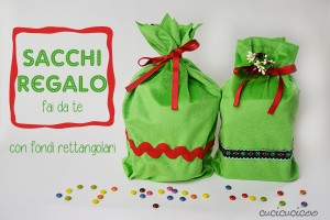 Tutorial: Crea sacchi regalo. www.cucicucicoo.com