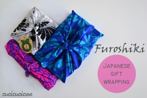 Furoshiki Japanese gift wrapping from a square of fabric
