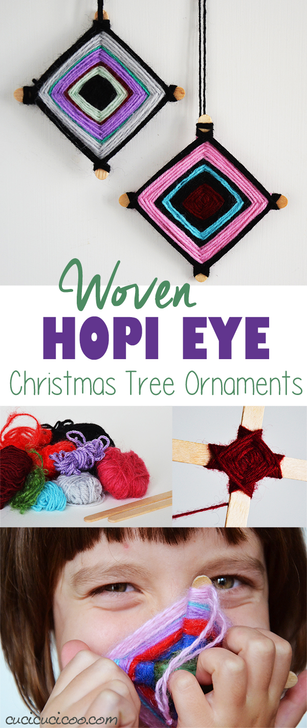 Woven Hopi Eye Yarn Christmas Ornaments For Kids Cucicucicoo