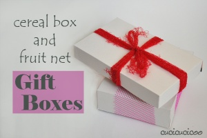 Cereal Box Gift Boxes with Fruit Net Bows