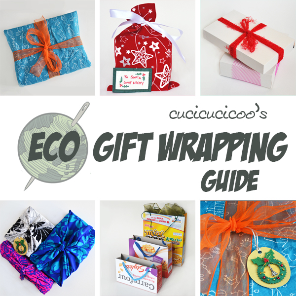 Stop wasting wrapping paper! Here are some fantastic ideas for eco-sustainable gift wrap, for beautiful and conscientious gift packages! www.cucicucicoo.com #giftwrap #handmadeholidays