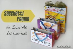 Tutorial: crea pacchi regalo con i materiali di recupero. www.cucicucicoo.com