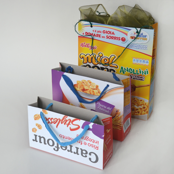 Tutorial: How to make gift bags from cereal boxes ...