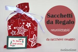 Tutorial: fa dei pacchi regalo da materiali di recupero. www.cucicucicoo.com