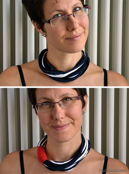 Tutorial: Super easy no-sew t-shirt sleeve necklace