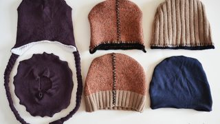Sewing winter hats from old wool sweaters