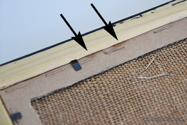 How to make a picture frame and burlap earring display