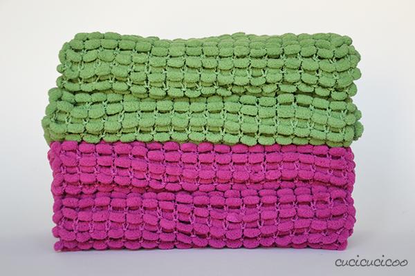 Knitting Pattern For Scarf With Pom Poms : Knitting a pom pom scarf - Cucicucicoo