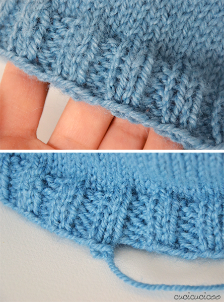 Knitting a top-down hat without a pattern