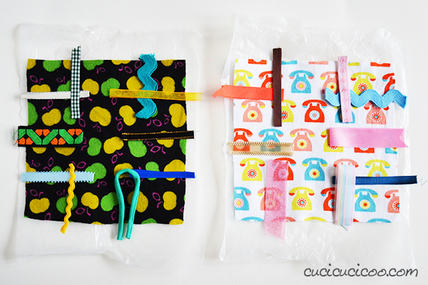 Need a quick DIY gift for a sweet newborn? Learn how to make a crinkle taggie baby toy with this easy tutorial. You won't believe the upcycled material that makes that perfect crinkly sound babies love! #diytoy #diygift