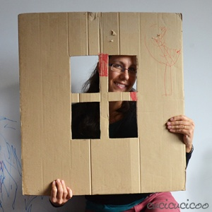 Instant portable windows from a cardboard box