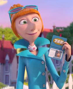 Despicable Me costumes: Lucy Wilde's wig and accessories