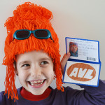 DIY Despicable Me costumes: Lucy Wilde's wig and accessories