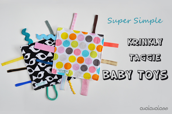 How to make a crinkly taggie baby toy