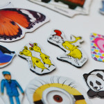How to make super simple sticker magnets