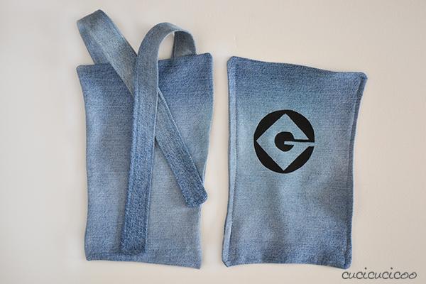 Realizzare la salopette da Minion di Cattivissimo Me da jeans e pittura per stoffe.