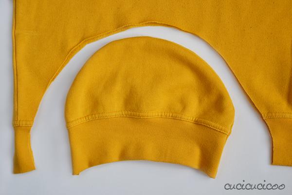 Realizzare un cappello da una felpa