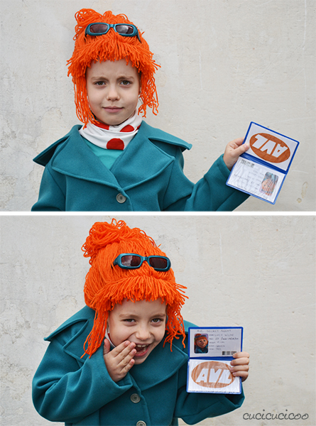 DIY Despicable Me costumes: Lucy Wilde's scarf and coat