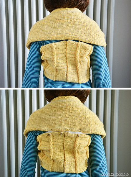 Tutorial: How to refashion a short scarf into a cozy winter shrug