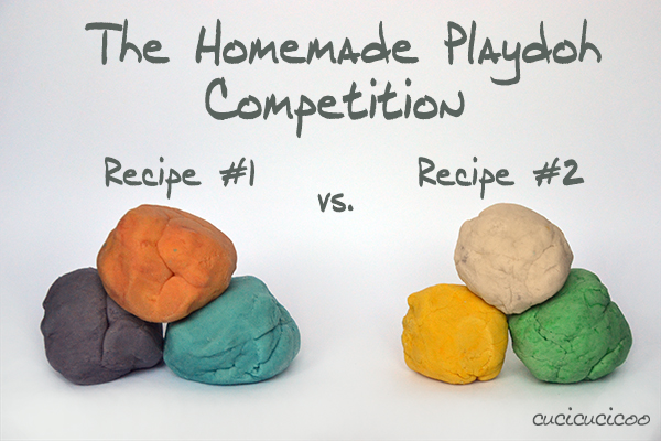 The Homemade PlayDoh competition: which of these recipes worked best?