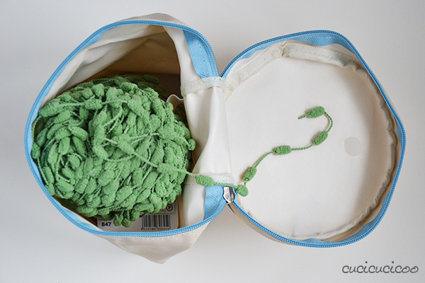 One-minute tutorial: How to make an upcycled yarn holder