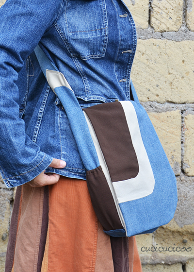 Hands free asymmetrical bag: a Serger Pepper pattern