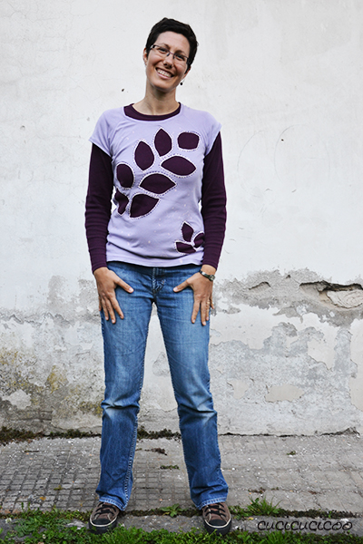 Layered reverse applique t-shirts: covering stains and holes